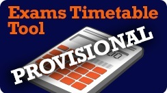 Provisional Exams Timetable Tool - The Exams Office